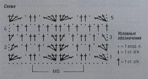 схема вязания пуловера крючком