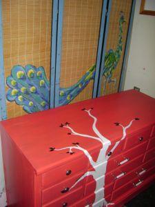 роспись мебели комод