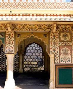 индийские узоры роспись стен