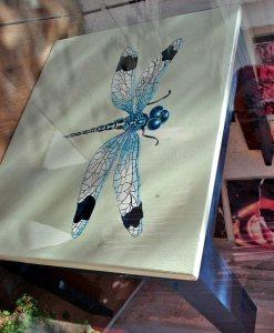 роспись стола - стрекоза