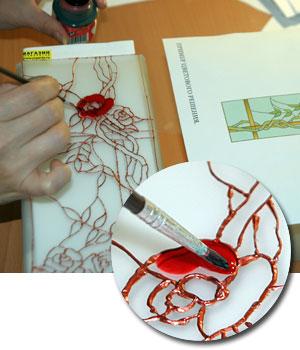 мастер-класс витражной росписи