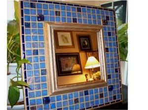 декоративное зеркало с мозаикой