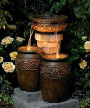 Подсветка фонтанов на дачном участке