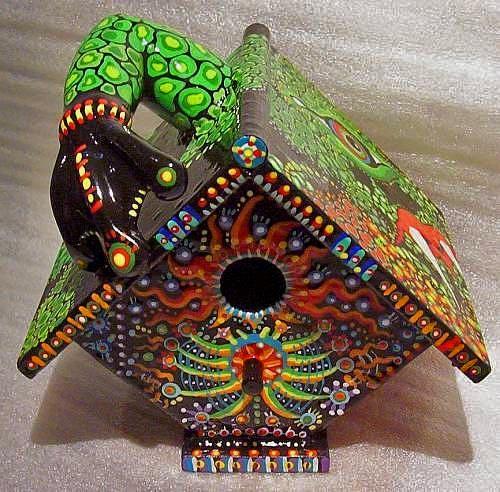 домик для птиц роспись акрилом