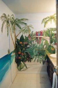 тропическая ванная своими руками