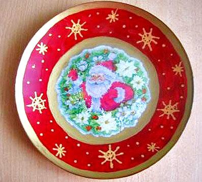 тарелка подарки своими руками мастер-класс декупаж