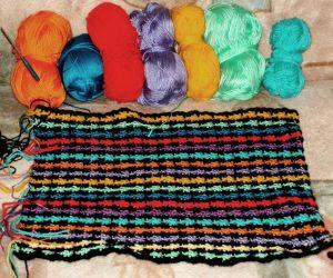 разноцветное вязание крючком в этническом стиле