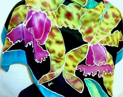 шарф из батика