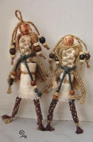 кукла плетеная макраме handmade