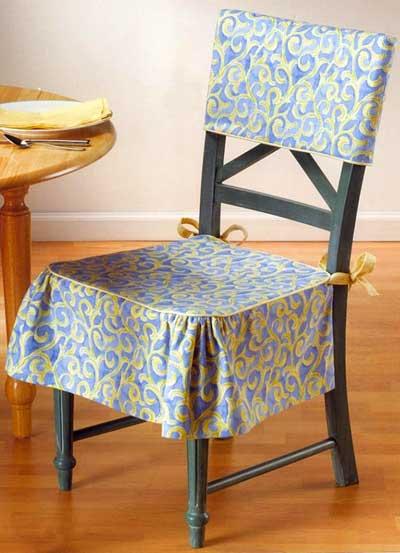 Чехлы на стулья своими руками: со спинкой и без, выкройки, схемы