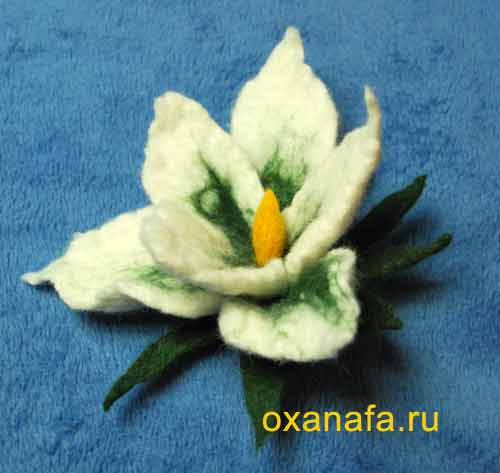 мастер класс цветы +из шерсти