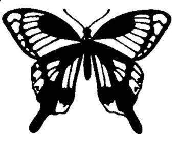 трафареты бабочек бесплатно 1