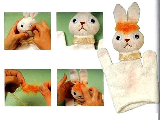 кукла из перчатки 3