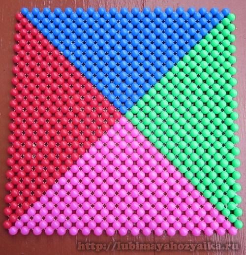 схема плетения салфетки из бисера