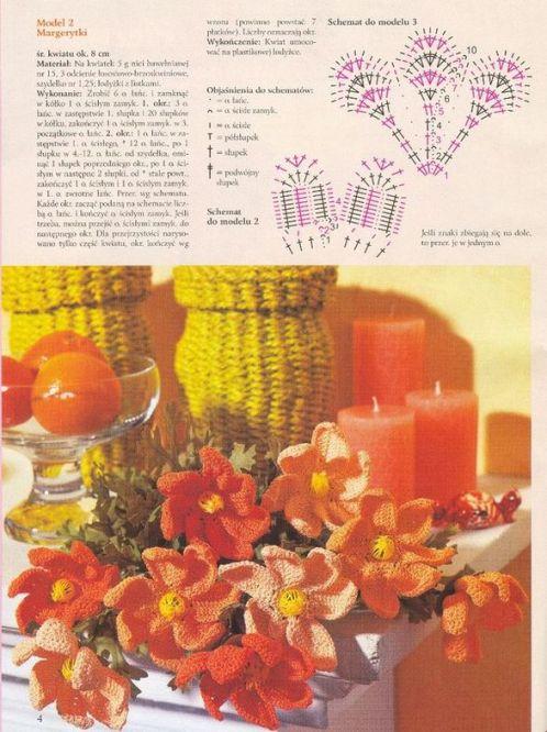 Схема вязания цветка маргаритка крючком