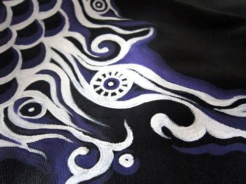 Роспись куртки акрилом - автор Shraddha (10)