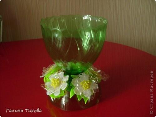 Вазочка с декором цветами 4