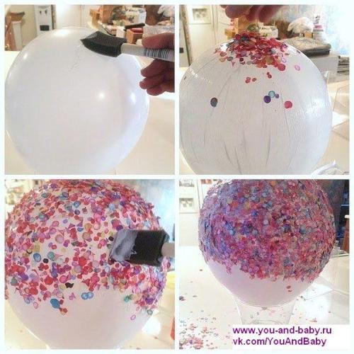 Мастерим с детьми - ваза из конфетти