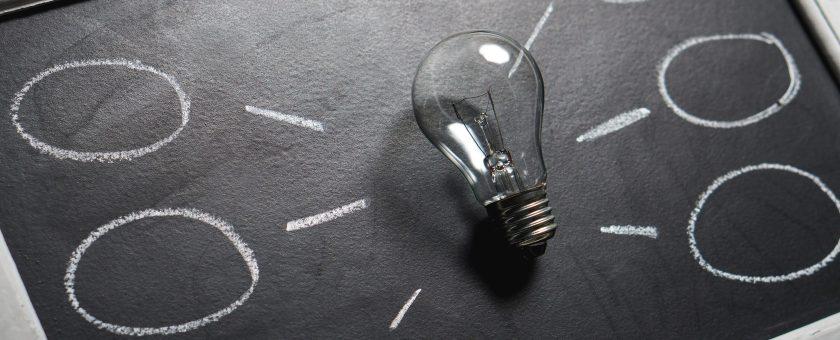 Light Bulb & Blackboard