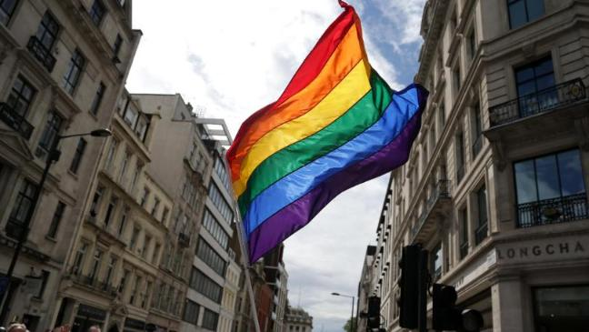Image result for Britain's embassy raised the rainbow flag.