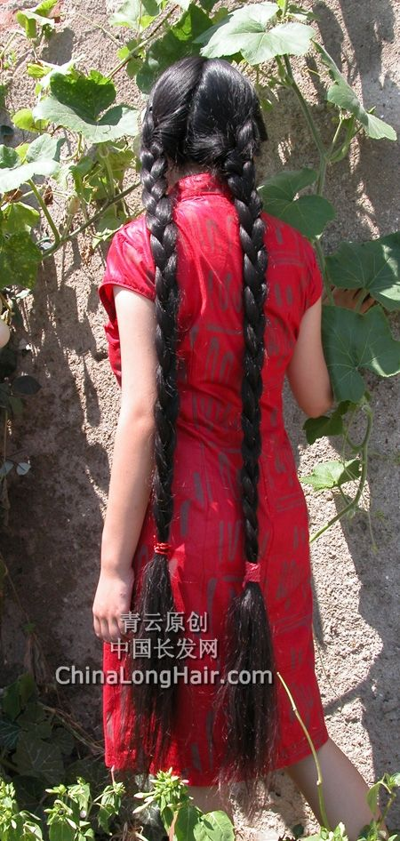 Young Girl With Knee Length Thick Braid 4 ChinaLongHair
