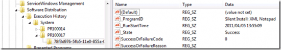 Program Execution Results in the Registry