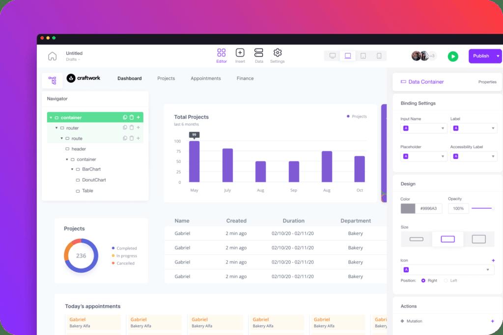 Screenshot Plataforma