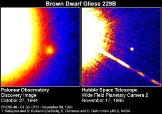 Gliese 229b, de eerste bruine dwerg