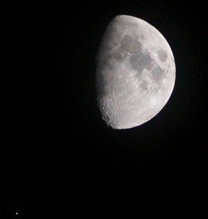 Maan en Mars in conjunctie