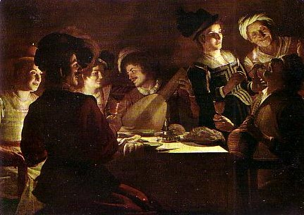 Gerard Honthorst (1590-1656) A supper