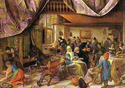 Jan Steen (1626-1679) - The life of man