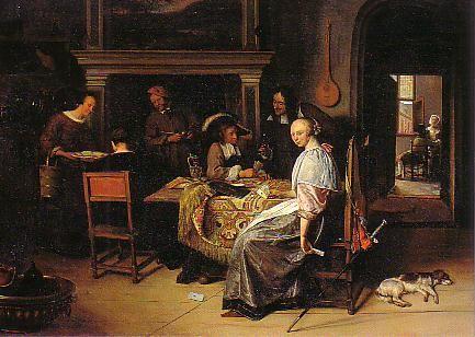 Jan STeen (1626-1679) The cardplayers