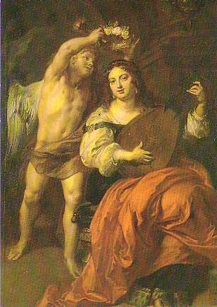 Theodoor van Thulden (1606-1669) - Allegory on Marriage (part of a larger painting)