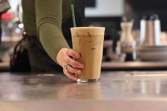 Almond Macademia Iced Latte Serve