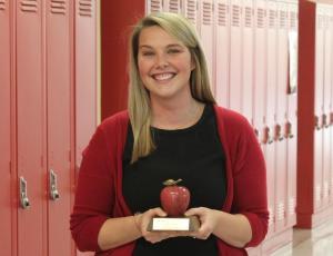 Photo of Sydney Jensen, Lincoln High teacher and winner of the 2019 Nebraska Department of Education Teacher of the Year