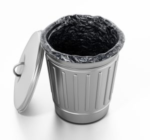 Aluminum trash can