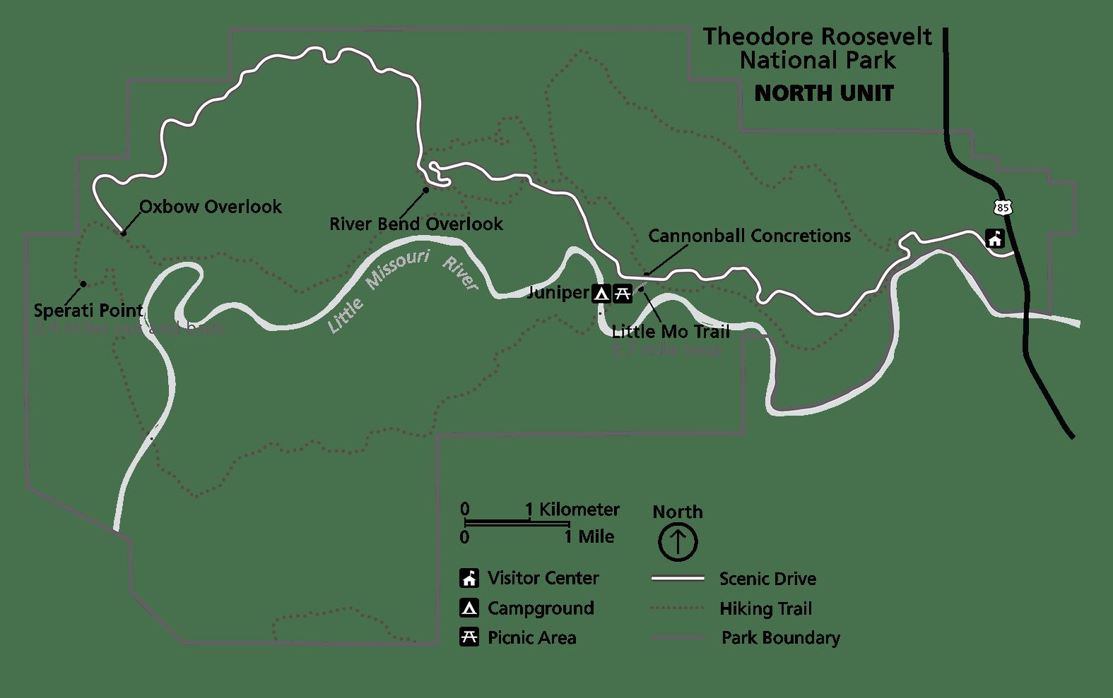 North Unit Print Map