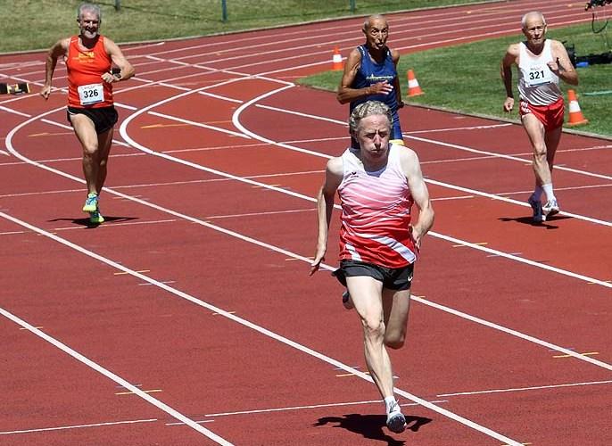 M60–Staffel-Europameister flott über 100 Meter unterwegs