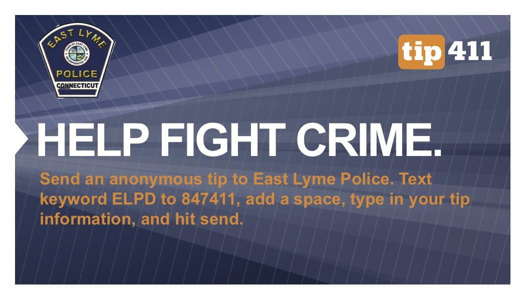 tip411 East Lyme Police