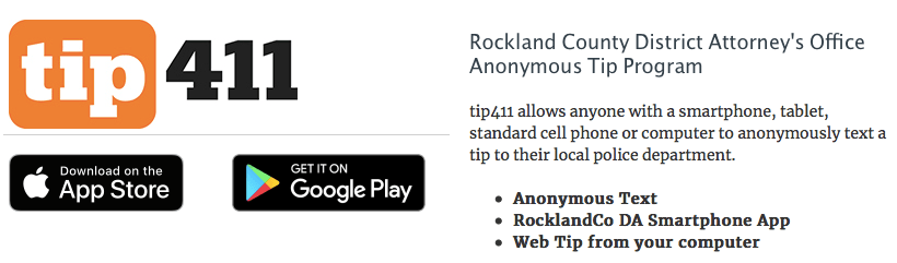 tip411 app program download Rockland County