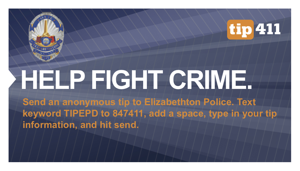 Elizabeth police Tip411