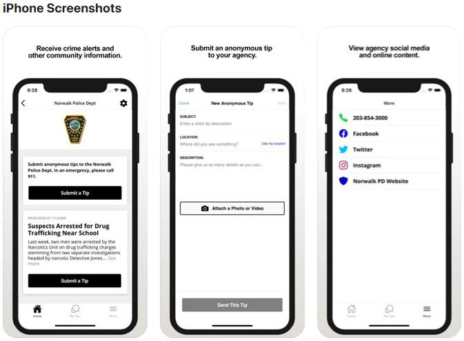 Norwalk anonymous tip app