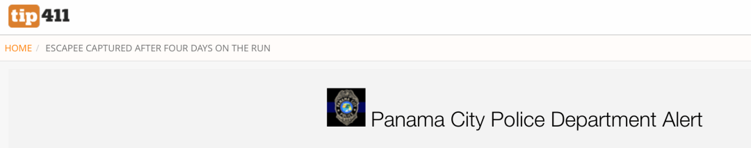 Panama City Police Department Alert