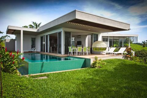 แบบบ้านชั้นเดียวหลังคาทรงแบน สวยสดใสน่ารักน่าชม