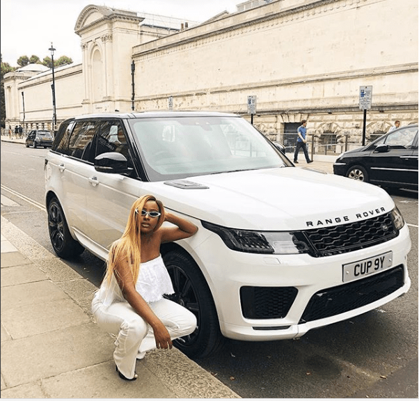 DJ Cuppy Gets 2018 Range Rover Gift From Dad [Photos]