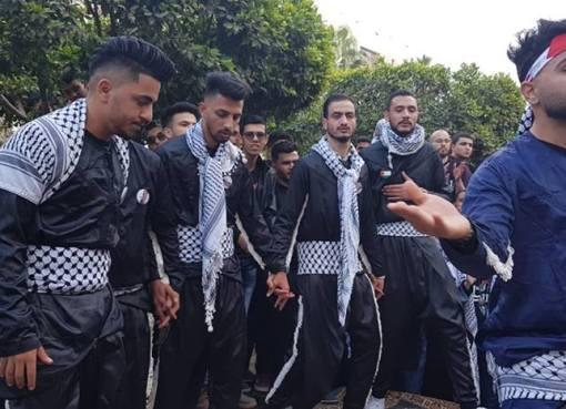 فلسطين تشارك في يوم الشعوب بكلية الطب البشري بجامعة طنطا