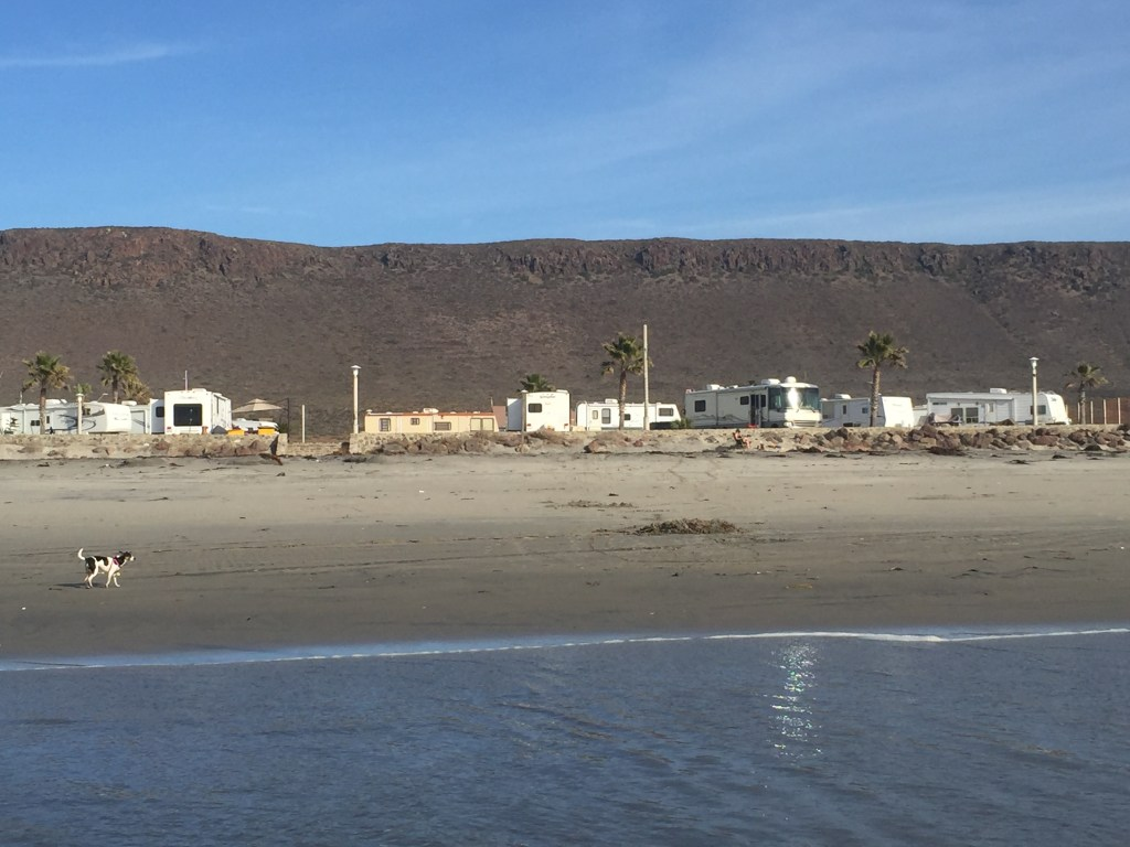 Clam Beach RV Park Ensenada Mexico.