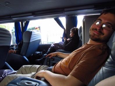 VIP bus seats.