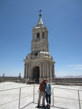 This spire was rebuilt after it fell in an earthquake.