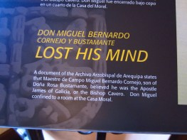 Apparently, Don Miguel Bernardo Cornejo y Bustamante LOST HIS MIND.